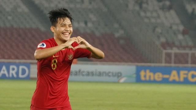 Selebrasi gol Witan Sulaeman di AFC U-19 Championship