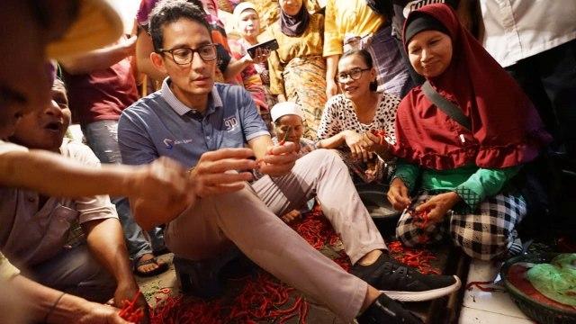 Sandiaga Uno, Pasar Raya Inpres Padang