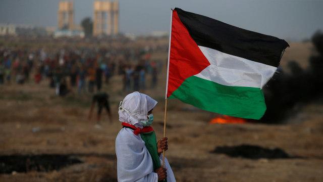 Protes Warga Palestina di Gaza