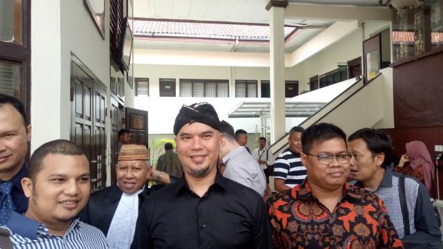 Ahmad Dhani di PN Jakarta Selatan.