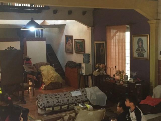 Jenazah Titi Qadarsih di rumah duka, Cinangka, Sawangan