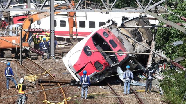 Taiwan Selidiki Kecelakaan Kereta yang Tewaskan 18 Orang (287127)