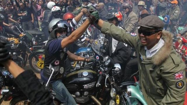 Acara Komunitas Sepeda Motor Mods vs Rockers 2015