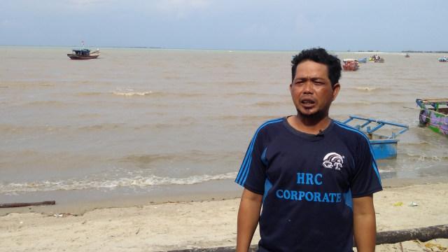 Konten Spesial, Tambang Timah, Erwandi, nelayan Pantai Sampur, Bangka