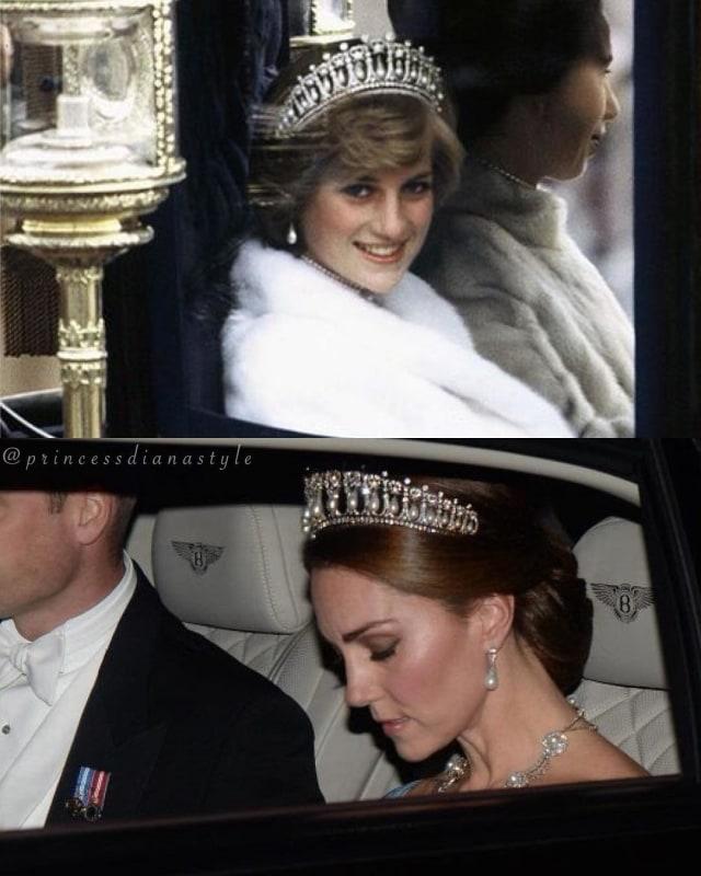 Kate Middleton Kenakan Tiara Favorit Putri Diana di Jamuan Makan Malam (62665)