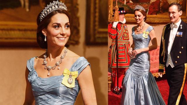 Kate Middleton Kenakan Tiara Favorit Putri Diana di Jamuan Makan Malam (62664)