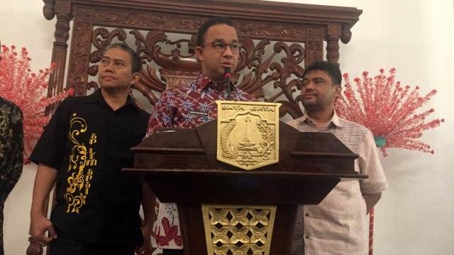 Anies, Presiden KSPI Said Iqbal di Balai Kota