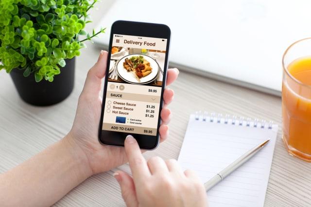 Ilustrasi diskon pesan makanan online
