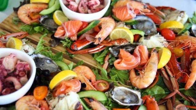 Hidangan seafood di Mandurah