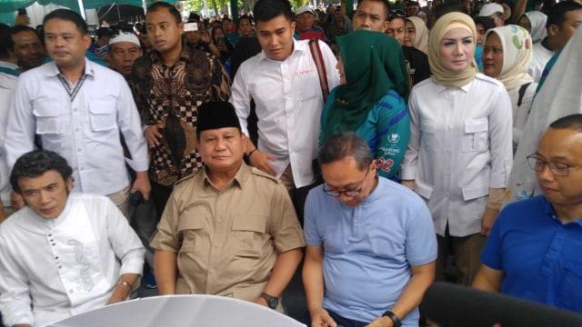 Prabowo Subianto, Rhoma Irama, Zulkifli Hasan, Deklarasi