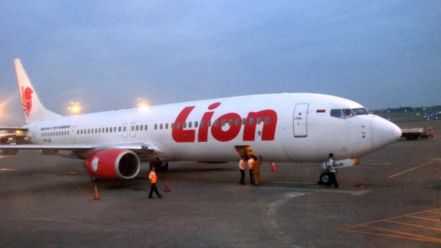 Illustrasi Pesawat Lion Air
