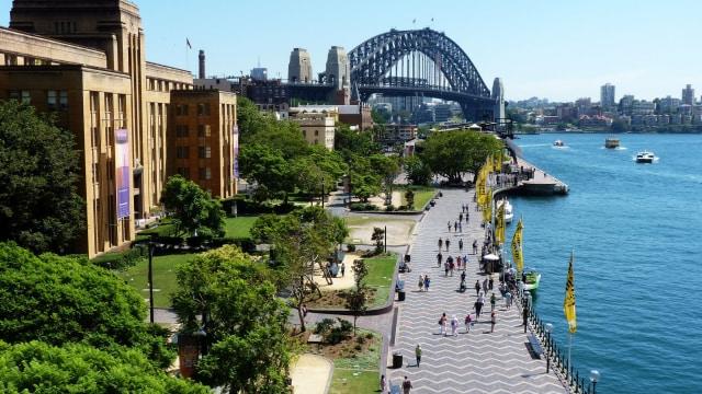 Pemandangan pedestrian di Sydney, Australia