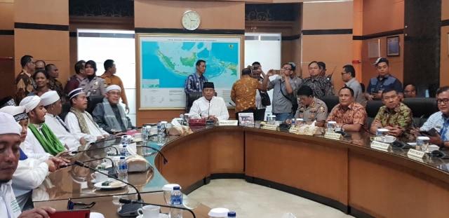 Wiranto terima 10 perwakilan massa aksi bela tauhid di kantor menkopolhukam