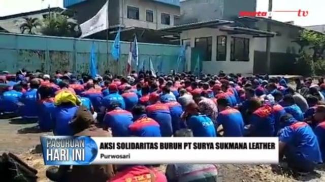 Pailit, Buruh Jaga Aset Pabrik Pengolah Kulit di Purwosari (503106)