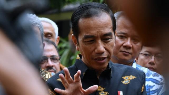 Jokowi, motor listrik Gesits, Kompleks Istana Merdeka
