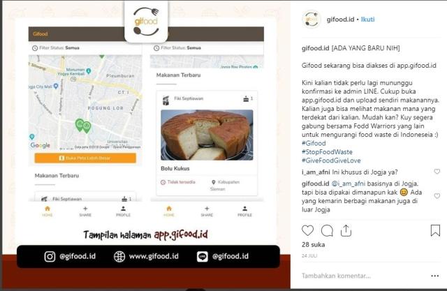Gifood Indonesia, Aplikasi Unik untuk Berbagi Makanan Berlebih (851253)