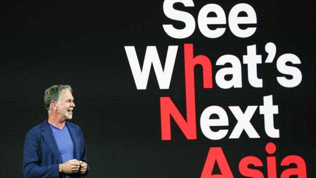CEO Netflix, Reed Hastings, di acara See What's Next Asia di Singapura