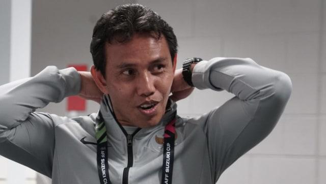 Pelatih timnas Indonesia Bima Sakti