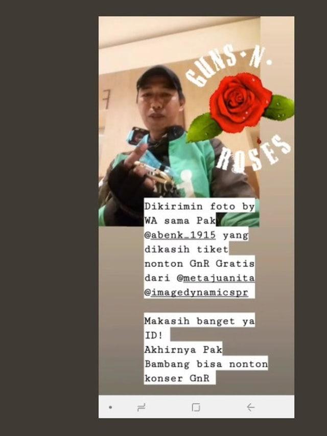 Kisah Haru Driver Ojol dapat Tiket Band Guns N' Roses Gratis (485779)