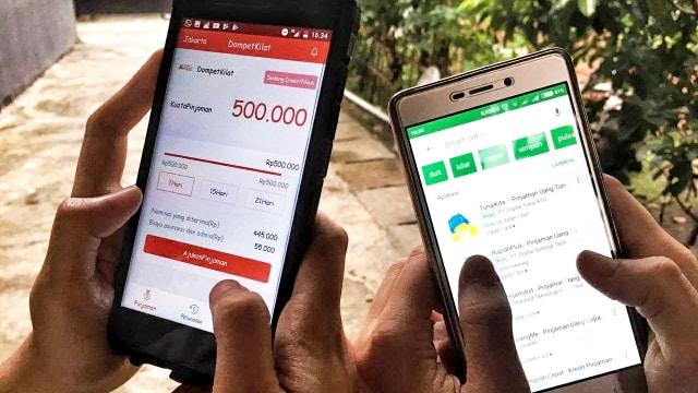 LIPSUS PINJOL, Ilustrasi aplikasi pinjaman online