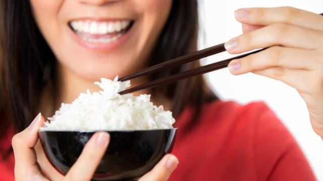 Ilustrasi semangkuk nasi