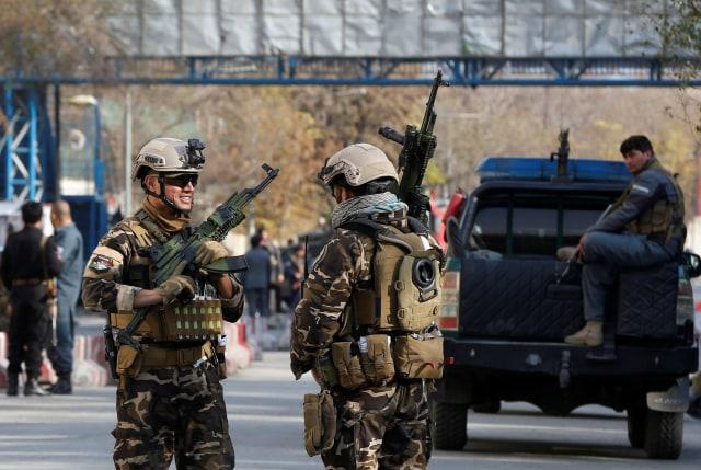 Bom bunuh diri di Kabul, Afghanistan.