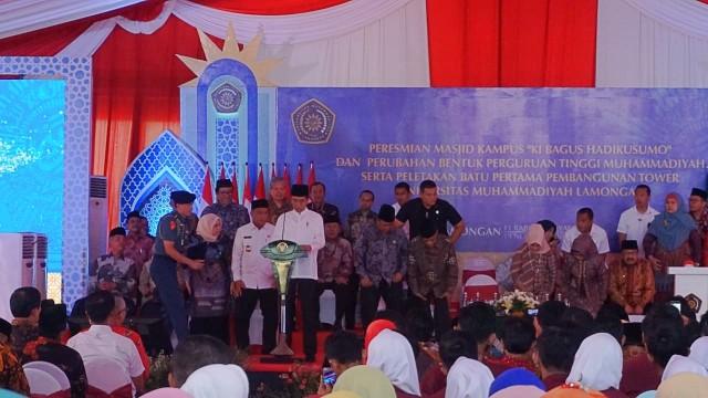 Jokowi Resmikan Pembangunan Tower Universitas Muhammadiyah Lamongan (24020)