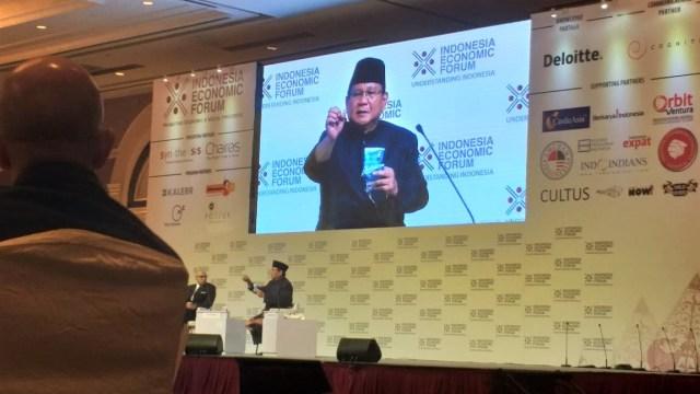 Prabowo Subianto, Indonesia Ekonomi Forum
