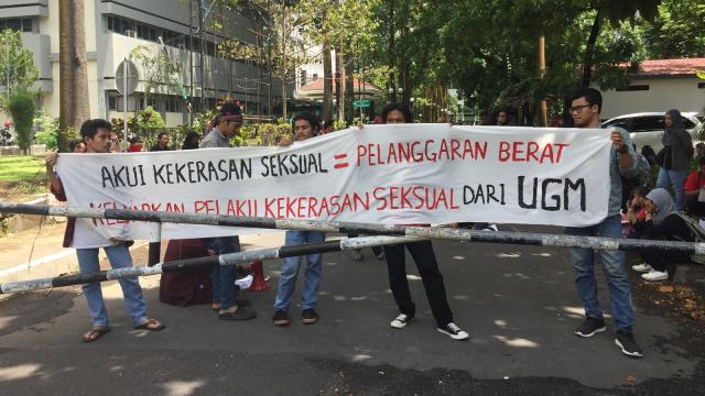 Mahasiwa UGM, Aksi solidaritas, Kekerasan seksual