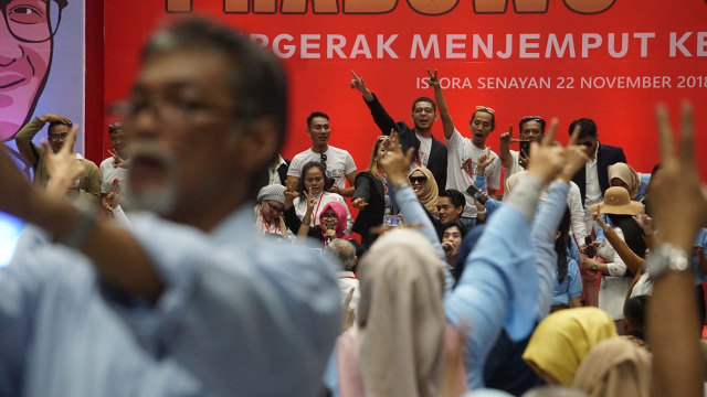 relawan Prabowo-Sandi