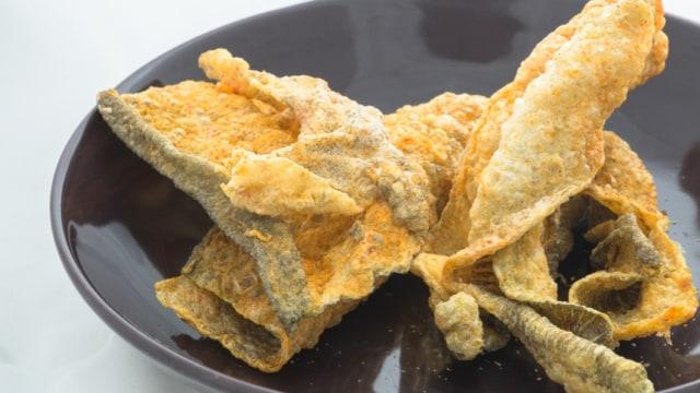 salted egg fish skin