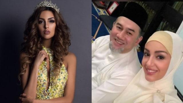 Raja Malaysia Sultan Muhamad V Faris, menikahi, Oksana Voevodina