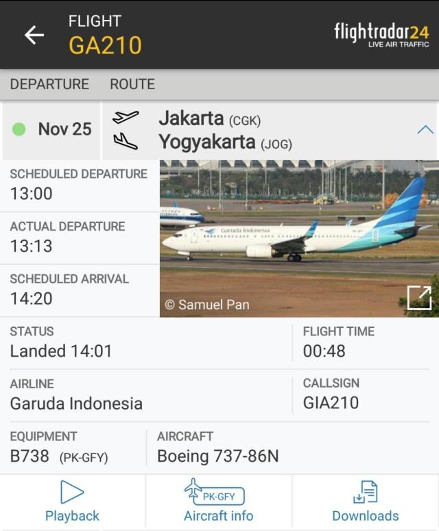 Pesawat Garuda Indonesia Tergelincir Saat Mendarat di Yogyakarta (512315)