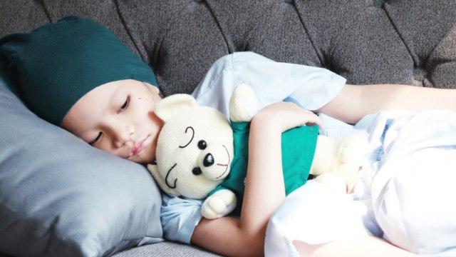 Ilustrasi anak yang menderita kanker
