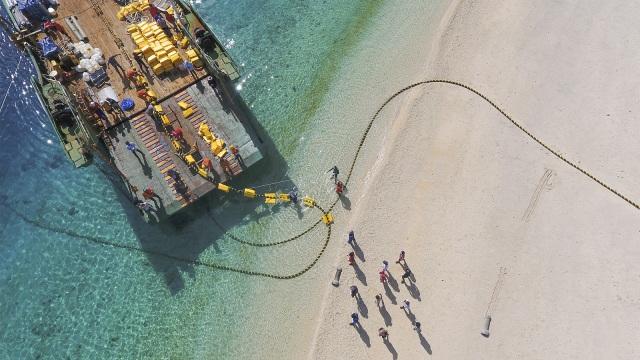 Kabel Laut Jayapura Putus