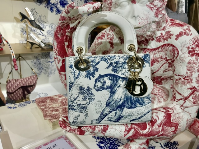 Mini Lady Dior Toile de Jouy bag