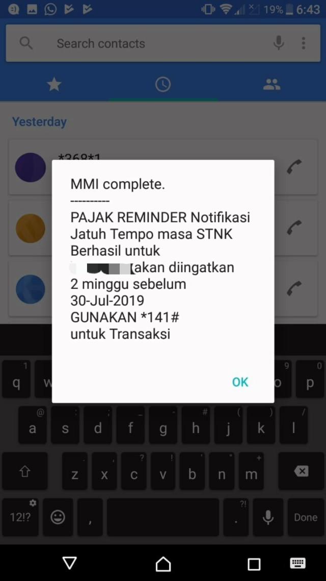 Cara Cek Pajak Kendaraan via SMS  (1072992)