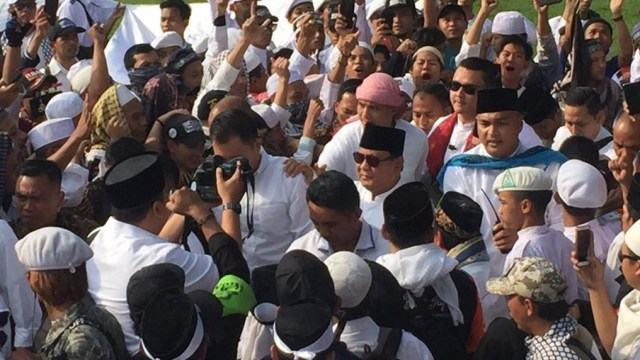 Prabowo Subianto, Reuni 212, Monumen Nasional, Monas, Jakarta