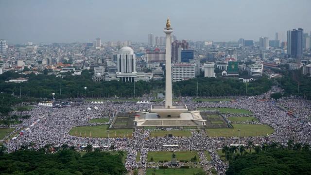 Massa Reuni 212, Monumen Nasional, Jakarta Pusat