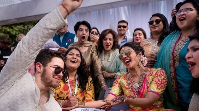 Nick Jonas, Priyanka Chopra, Upacara Mehendi