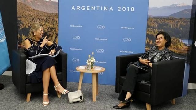 Menteri Keuangan Sri Mulyani, Ratu Kerajaan Belanda Ratu Maxima, G-20 di Argentina