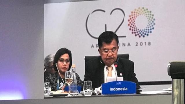 Menteri Keuangan Sri Mulyani, Wakil Presiden Jusuf Kalla, G-20 di Argentina