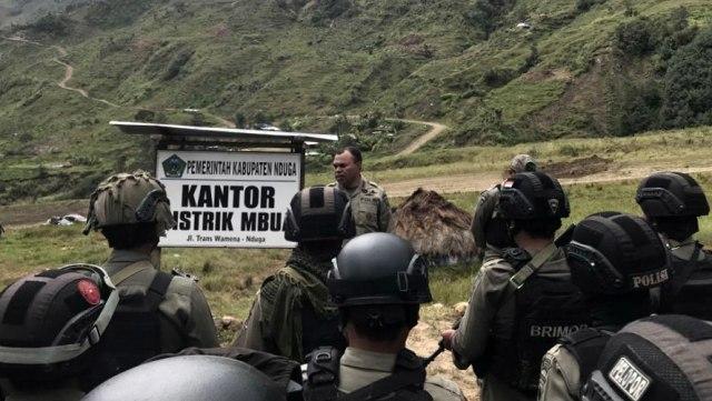 Personel Gabungan TNI, Polri, Pencarian Terhadap 5 Karyawan PT. Istaka Karya, KKB, Distrik Yigi, Kabupaten Nduga Papua
