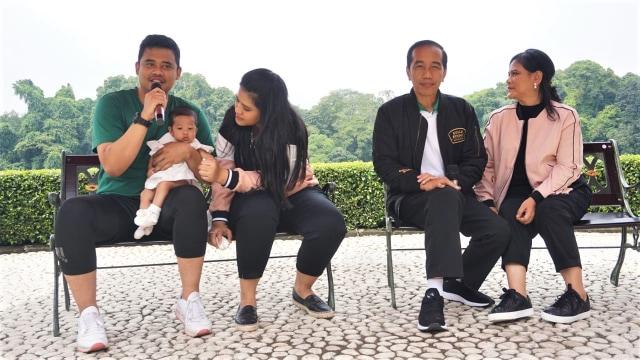 Jokowi dan Keluarga Santai di Green Garden, Kebun Raya Bogor