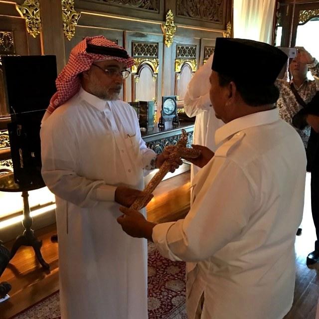 LIPSUS CUITAN SESAT DUBES ARAB, (NOT COVER),  Duta Besar Arab Saudi, Osama bin Mohammed Abdullah Al Shuaib, Prabowo Subianto