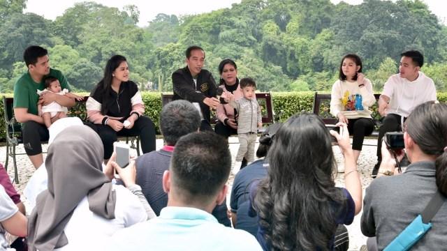 Presiden Joko Widodo dan Keluarga, wartawan Istana Kepresidenan, Jan, ethes, Kahiyang