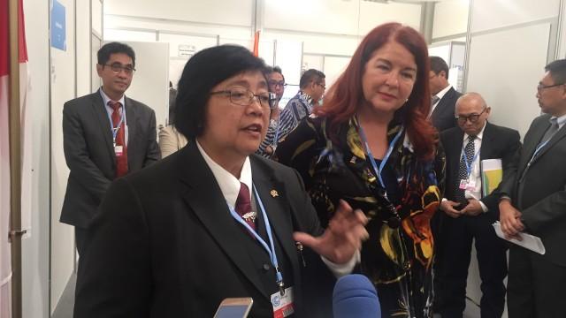 Menteri LHK Siti Nurbaya dan Menteri Lingkungan Australia Melisa Price