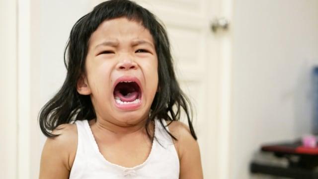 Ilustrasi anak menangis mengamuk