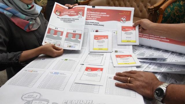 Surat suara, Pemilu 2019, KPU