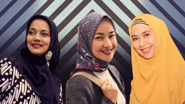 Marissa Haque, Alya Rohali, dan Oki Setiana Dewi